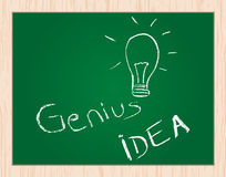 Idéia do gênio no quadro-negro Foto de Stock