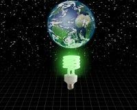 Idéia verde global Fotos de Stock Royalty Free