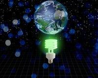 Idéia verde global ilustração do vetor