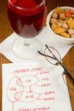 Idéias do guardanapo do cocktail Fotos de Stock Royalty Free