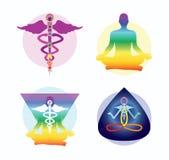 Idéias do projeto da ioga Imagens de Stock