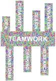 Idéias em torno dos trabalhos de equipa Imagem de Stock