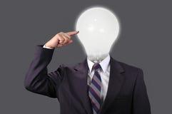 Idéias no mundo do negócio com fundo neutro foto de stock