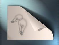 Idéias no papel Imagem de Stock