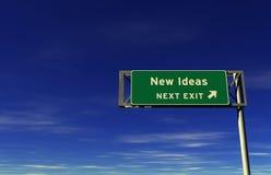 Idéias novas - sinal da saída de autoestrada Imagens de Stock