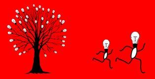 Idéias Running ilustração royalty free