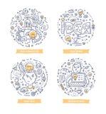 Idéklotterillustrationer stock illustrationer