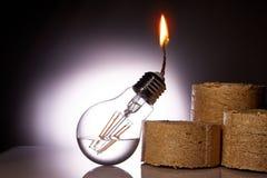 Idén är att ge ett andra liv till en gammal kula för brännskada som ut gör om den i en fotogenlampa Royaltyfri Fotografi