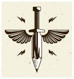 Idén är ett vapenbegrepp, vapnet av en formgivare eller konstnären vektor illustrationer