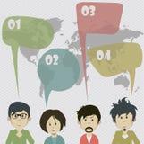 Idén av den sociala nätverkskommunikationen Royaltyfri Bild