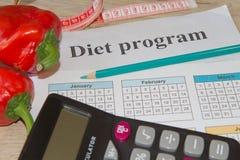 Idén av sunt bantar, förlorande vikt för diet-frukosten med hjälpen av en frukt bantar Magert banta Royaltyfria Foton