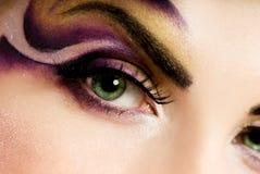 idérik ögonmålarfärg royaltyfri foto