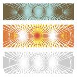 Idérik abstrakt baneruppsättning Royaltyfri Foto