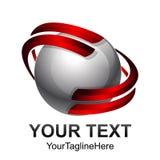 Idérik abstrakt digital design t för logo för sfärteknologivektor Royaltyfri Bild