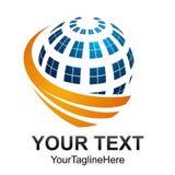 Idérik abstrakt digital design t för logo för sfärteknologivektor Royaltyfri Fotografi