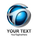 Idérik abstrakt digital design t för logo för sfärteknologivektor Arkivfoto