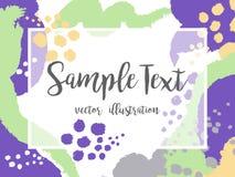 Idérik abstrakt färgrik vektorbakgrund med fläckar och borsteslaglängder stock illustrationer