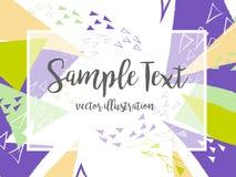 Idérik abstrakt färgrik vektorbakgrund med triangeln och linjer Arkivfoton
