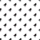 Idérik abstrakt fågelsymbolsbakgrund vektor illustrationer