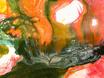 Idérik abstrakt hand målad bakgrund Royaltyfri Bild
