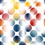 Idérik abstrakt konst cirklar bakgrund Royaltyfri Foto
