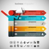 Idérik affär Infographic Arkivbilder