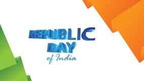 Idérik affisch, baner eller reklamblad för republikdag av Indien 26 Januari beröm med modern design stock illustrationer
