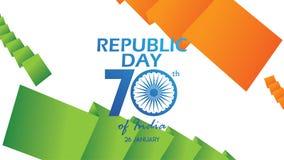 Idérik affisch, baner eller reklamblad för republikdag av Indien 26 Januari beröm med modern design royaltyfri illustrationer