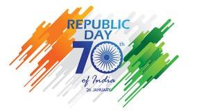 Idérik affisch, baner eller reklamblad för republikdag av Indien 26 Januari beröm med modern design vektor illustrationer