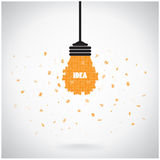 Idérik bakgrund för begrepp för idé för ljus kula för pussel Arkivbilder