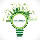Idérik bakgrund för eco-vänskapsmatch stadsdesign Royaltyfri Fotografi
