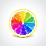Idérik begreppsvektor för färgrik citron Royaltyfri Fotografi