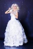 Idérik bild för modell med djupfryst makeup royaltyfria foton
