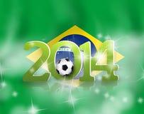 Idérik Brasilien fotbolldesign 2014 Arkivbild