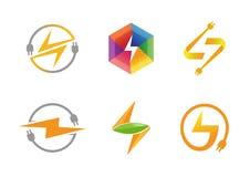 Idérik design för elektricitetssymbol Arkivfoton