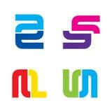 Idérik design för symbol för bokstav för affärsföretag Fotografering för Bildbyråer