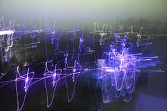 idérik digital lampa för abstrakt begreppblurs Royaltyfri Bild