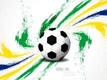 Idérik elegant fotbollbakgrund med Brasilien färgar grungefärgstänk. Royaltyfri Fotografi