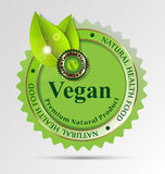 Idérik etikett för strikt vegetarian-släkta foods/drinkar Royaltyfri Bild
