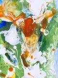 Idérik färgrik abstrakt hand målad bakgrund Arkivbild