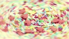 Idérik färgrik blandande konstnärlig closeup för virvel arkivfilmer