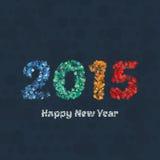 Idérik färgrik vektor för design för lyckligt nytt år 2015 för cirkelmodell Arkivbilder