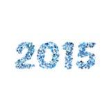 Idérik färgrik vektor för design för lyckligt nytt år 2015 för cirkelmodell Royaltyfri Foto