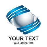 Idérik för cirkelswoosh för abstrakt begrepp 3d tem för design för logo för vektor för sfär Royaltyfri Bild