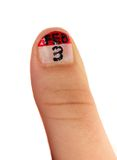 Idérik fingernagelmålning - en kalender app Arkivbild