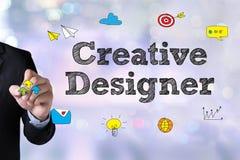 Idérik formgivareGraphic formgivare på arbete Färgprovkartaprövkopia vektor illustrationer