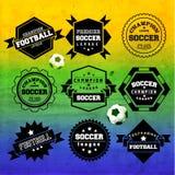 Idérik fotbollvektordesign Arkivbild
