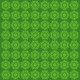 Idérik grön blommamodell Arkivbild