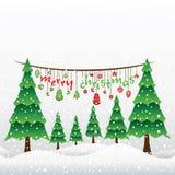 Idérik hälsningdesign 2015 för glad jul Arkivfoto