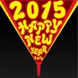 Idérik hälsningdesign 2015 för nytt år Arkivfoto